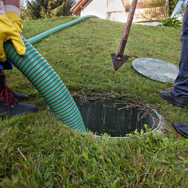 emptying the household septic tank